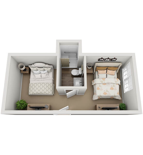 Duet 0 Bedroom Apartment Floor Plan