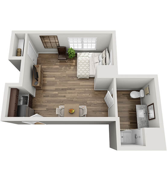 Encore 0 Bedroom Apartment Floor Plan