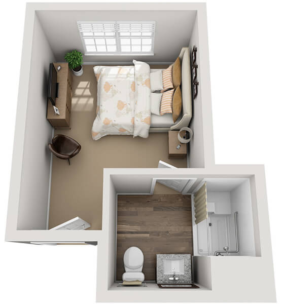 Minuet 1 0 Bedroom Apartment Floor Plan