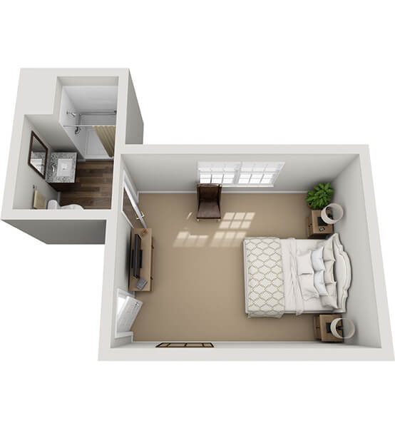 Minuet 2 0 Bedroom Apartment Floor Plan