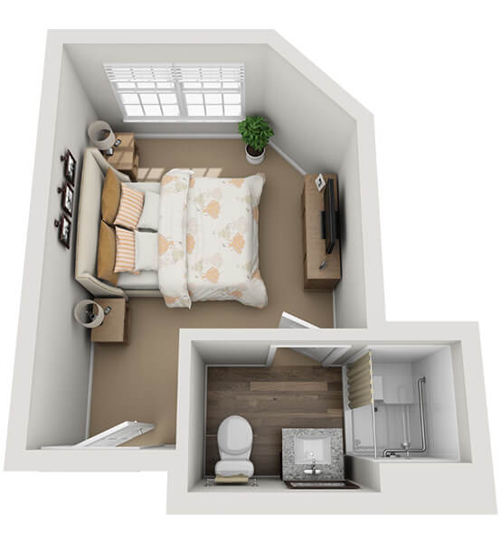 Recital 0 Bedroom Apartment Floor Plan