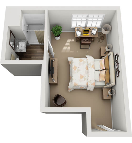 Serenade 0 Bedroom Apartment Floor Plan