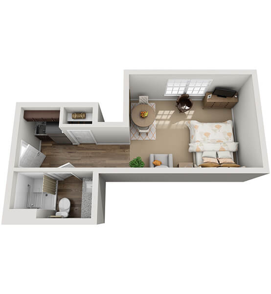 Sonata 1 0 Bedroom Apartment Floor Plan