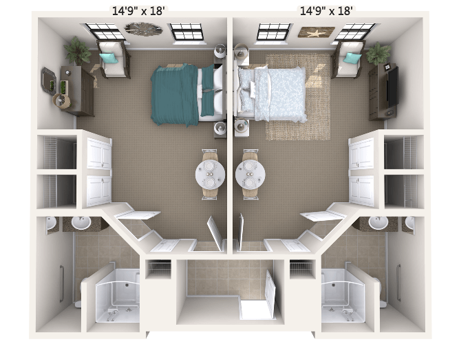 Duet Companion Suite 2 Bedroom Apartment Floor Plan